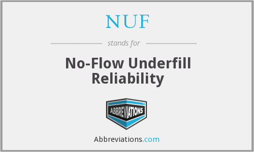 NUF - No-Flow Underfill Reliability