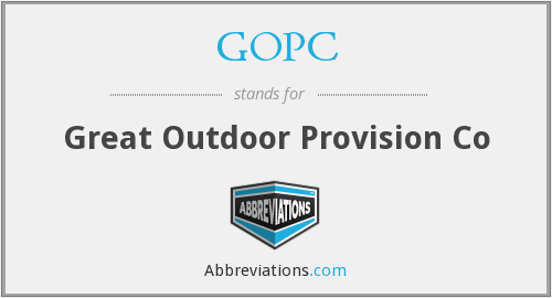 GOPC - Great Outdoor Provision Co