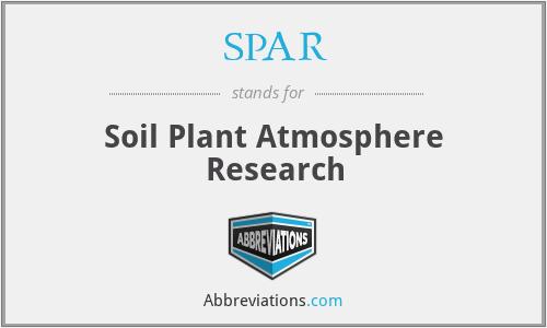SPAR - Soil Plant Atmosphere Research