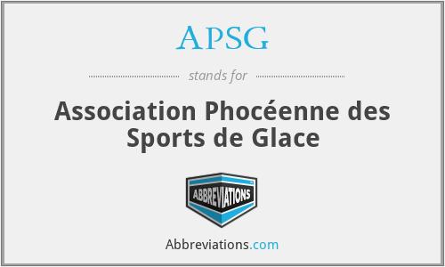 APSG - Association Phocéenne des Sports de Glace