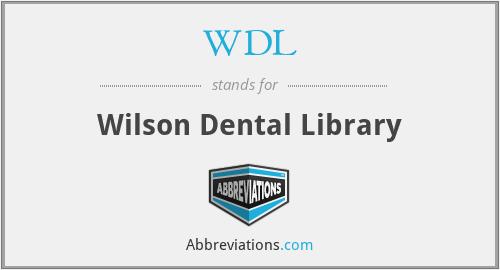 WDL - Wilson Dental Library