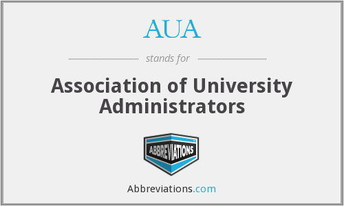 AUA - Association of University Administrators
