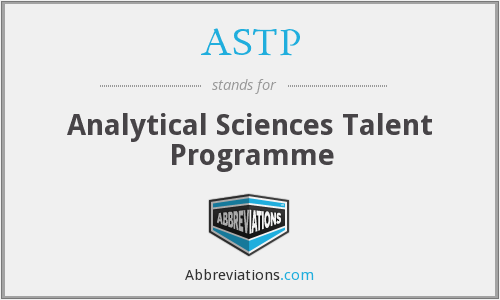 ASTP - Analytical Sciences Talent Programme