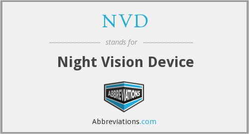 NVD - Night Vision Device