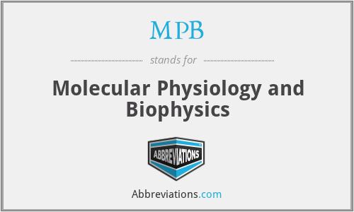 MPB - Molecular Physiology and Biophysics