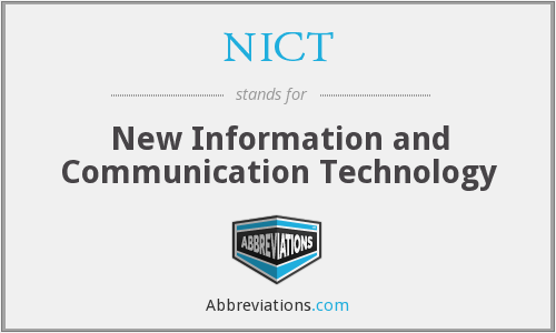 What does NICT stand for?