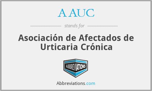 AAUC - Asociación de Afectados de Urticaria Crónica