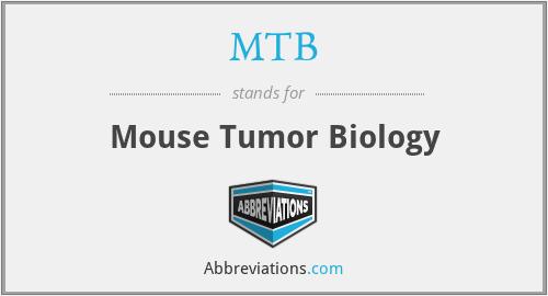 MTB - Mouse Tumor Biology