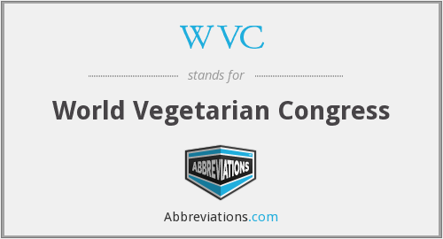 WVC - World Vegetarian Congress
