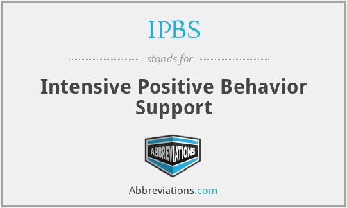 IPBS - Intensive Positive Behavior Support