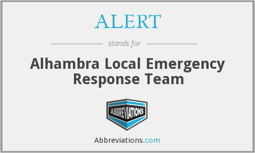 ALERT - Alhambra Local Emergency Response Team