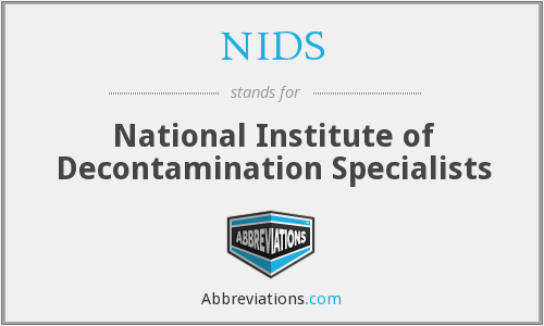 NIDS - National Institute of Decontamination Specialists
