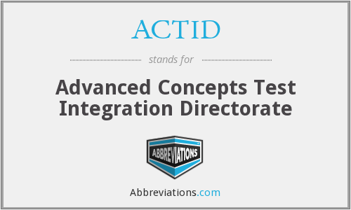 What does ACTID stand for?