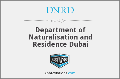 What does DNRD stand for?