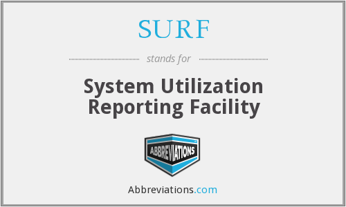 SURF - System Utilization Reporting Facility