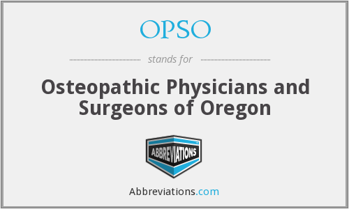 OPSO - Osteopathic Physicians and Surgeons of Oregon