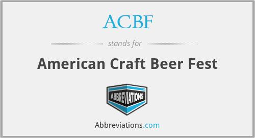 ACBF - American Craft Beer Fest