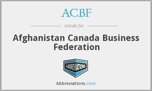 What does ACBF stand for?