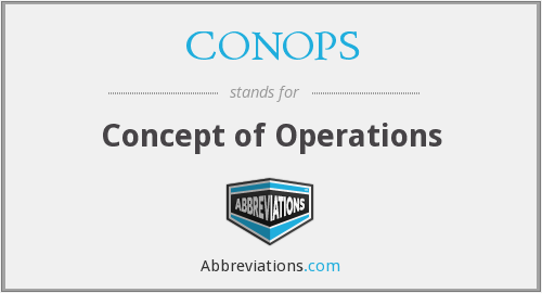 CONOPS - Concept of Operations