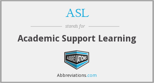 ASL - Academic Support Learning