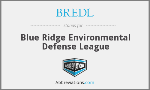 BREDL - Blue Ridge Environmental Defense League