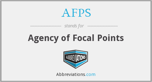AFPS - Agency of Focal Points