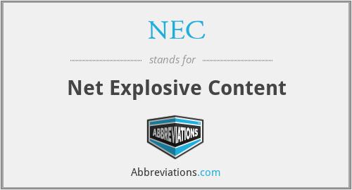 NEC - Net Explosive Content