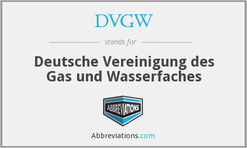 What does DVGW stand for?