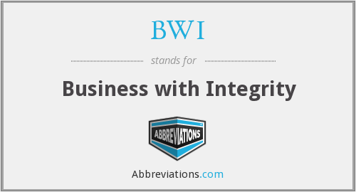 BWI - Business with Integrity