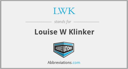LWK - Louise W Klinker