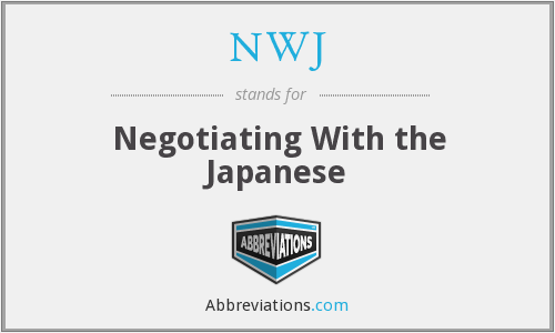 NWJ - Negotiating With the Japanese