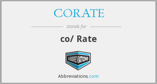 What does CORATE stand for?