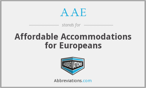 AAE - Affordable Accommodations for Europeans