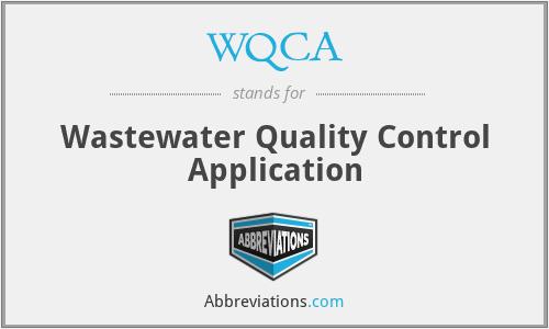 WQCA - Wastewater Quality Control Application