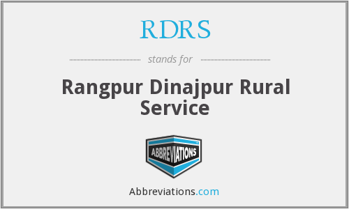 What does RDRS stand for?