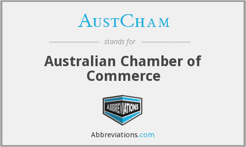 What does AUSTCHAM stand for?