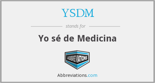 What does YSDM stand for?