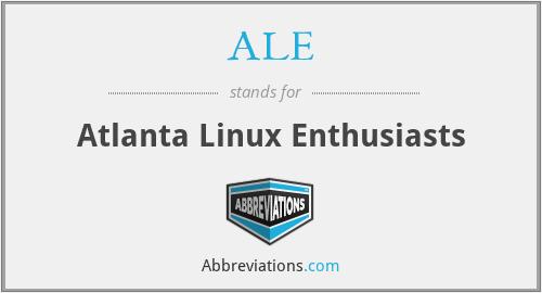 ALE - Atlanta Linux Enthusiasts
