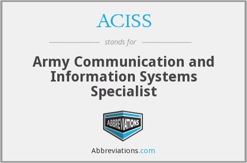 What does ACISS stand for?