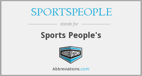 What does SPORTSPEOPLE stand for?