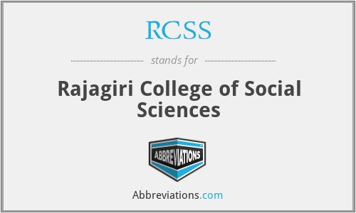 RCSS - Rajagiri College of Social Sciences