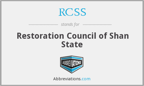 RCSS - Restoration Council of Shan State