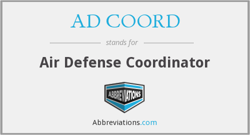 What does AD COORD stand for?
