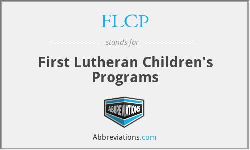 FLCP - First Lutheran Children's Programs