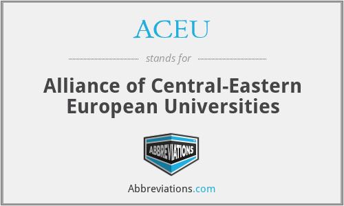 ACEU - Alliance of Central-Eastern European Universities