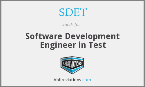 SDET - Software Development Engineer in Test