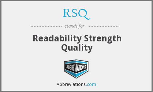 RSQ - Readability Strength Quality
