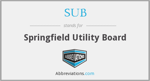 SUB - Springfield Utility Board