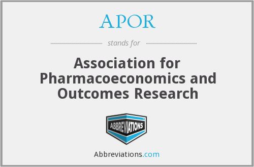 APOR - Association for Pharmacoeconomics and Outcomes Research
