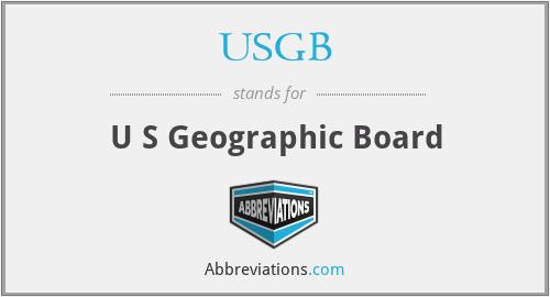 USGB - U S Geographic Board